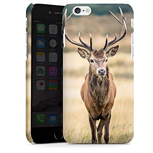 Apple iPhone 6 Plus Hülle Case Handyhülle Hirsch Wald Tier Premium Case matt