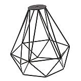 Sharplace Vintage Diamant Lampenschirme aus Metall für Hängeleuchte Deckenleuchte Wohnzimmer Lampe 20x20cm - Schwarz, 20x20cm