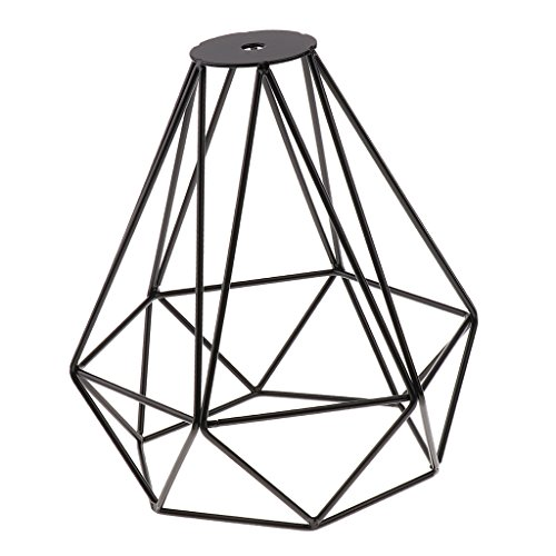 Sharplace Abat-Jour de Diamant en Fer Lustre Décoration Art - Noir