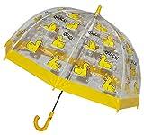 Unbekannt Regenschirm -  lustige Ente / Tiere  - Kinderschirm transparent Ø 70 cm - Kinder Stockschirm - für Mädchen Jungen Schirm Kinderregenschirm / Glockenschirm T..
