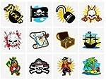 De colores Pirata Tatuajes, 24 sumini...