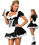 Sexy French Maid Fancy Dress Costume Women's outfit Size Medium (Women: 12-14)