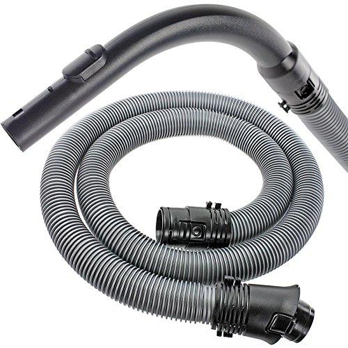 Qualtex 1.8 m Tuyau flexible et manche courbé Buse pour Miele Compact C1 C2 C3 Cat & Dog PowerLine EcoLine aspirateurs