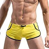 Bañador Natación Hombre,Xinantime Bóxer Pantalones Calzoncillos de Verano (XL, Amarillo)