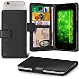 Fone-Case (Black) HTC U Play Hülle Clamp-Art-Mappen Schutz-PU-Leder-Abdeckung