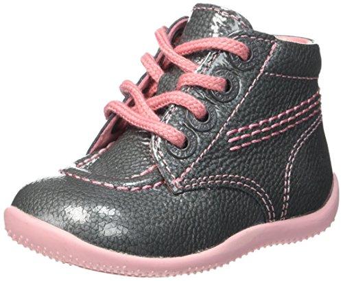 Kickers Billista, Chaussures Premiers Pas Bébé Fille, Gris (Gris/Vernis), 22 EU