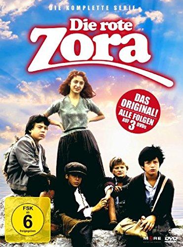 Die rote Zora - Die komplette Serie [3 DVDs] - Rot-taschenbuch