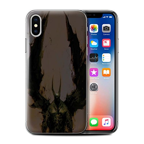 Offiziell Chris Cold Hülle / Case für Apple iPhone X/10 / Raubtier/Jäger Muster / Wilden Kreaturen Kollektion Teufel/Tier