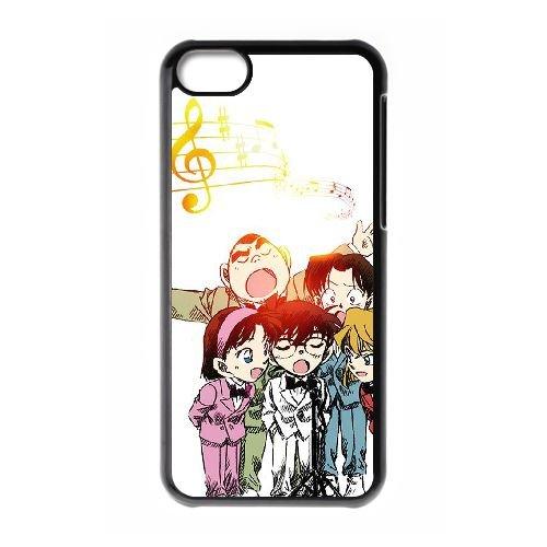 Detective Conan coque iPhone 5C Housse téléphone Noir de couverture de cas coque EBDXJKNBO10433