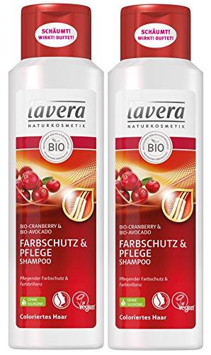lavera Haar Shampoo Farbschutz & Pflege ∙ Cranberry...