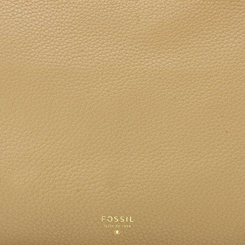 Fossil Preston Sac à main Fourre-tout cuir 30 cm beige