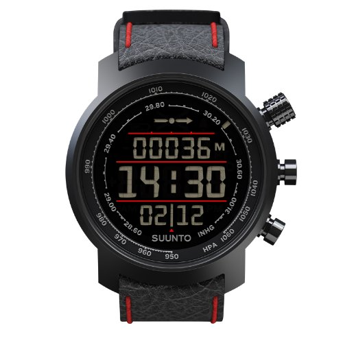Suunto Elementum Terra Black/Red Leather Armbandcomputer