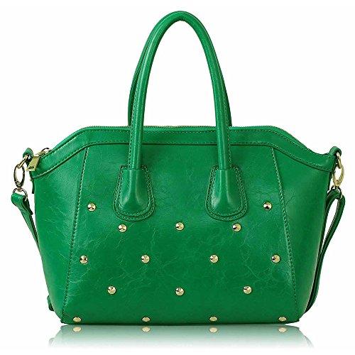 TrendStar Damenmode Obergriff Schulterhandtaschen Kunstleder Für Taschen Von Promi-Stil Grün