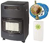 Stufa gas infrarossi ventilata 4,2 Kw + Termoventilatore Nova Turbo sensore O2 REGOLATORE TUBO FASCETTE UMIDIFICATORE OMAGGIO