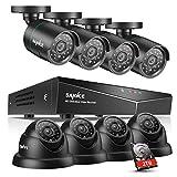 SANNCE 16-Channel 1080N DVR HomeGuard DIY CCTV Kit w/ 2TB HDD + 8