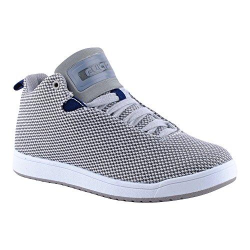 Herren Damen High Top Sneaker Basketball Sport Freizeit Unisex Schuhe Grau-W