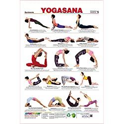 Spectrum laminado Aula zuging Póster backbends Yoga Sana – Muro Diagrama, color Multicolor (Yogasana Poster Diagramm - 5) 28 x 19 inch
