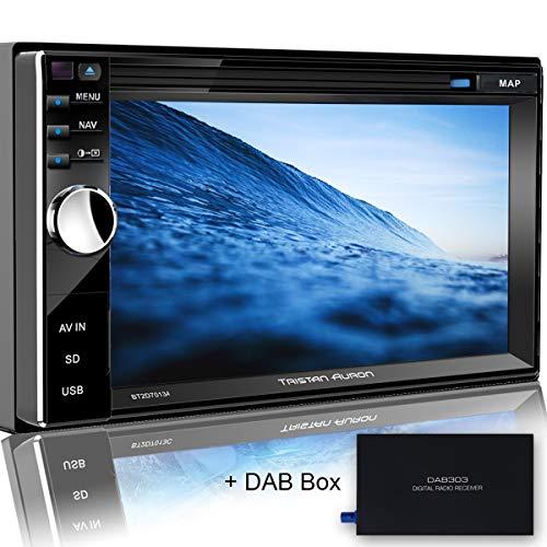 Tristan Auron BT2D7013A Autoradio mit GPS Navi + DAB Box, 6,5'' Touchscreen Bildschirm, WebLink, Bluetooth Freisprecheinrichtung, USB I SD, CD I DVD, DAB+ Lenkradsteuerung Rückfahrkamera 2 DIN Auto Radio