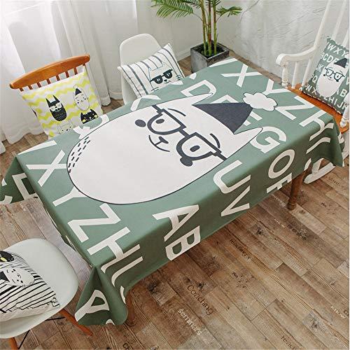 hhlwl Baumwolle Und Leinen Große cm Tischdecke Cartoon Katzendruck Tischdecke Couchtisch TV-Arbeitstuch, Rund 274 cm
