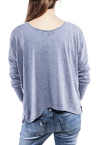 Ella Manue Frauen Oversize Shirt Longsleeve Jules Blau