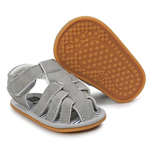 kingko® Baby Boys Sandalen Schuh Casual Schuhe Sneaker Anti Rutsch Soft Sole Kleinkind Gray