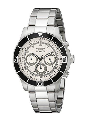 Invicta Watch - 12841 - Montre Mixte - Quartz - Chronographe - Bracelet Acier Inoxydable Argent