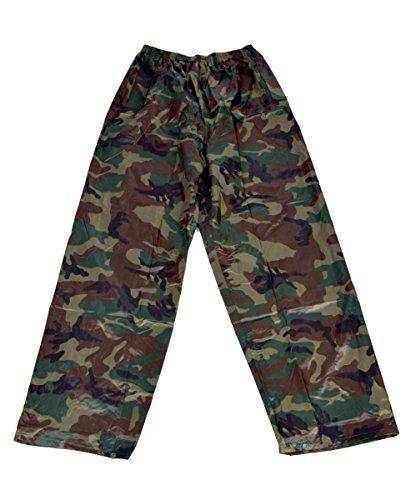 IWEA Camouflage Regenhose Überhose Outdoor Funktions Hose Wasserdicht in Tarnfarben IW040, XL