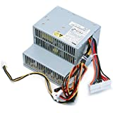 Genuine Dell 280W Replacement Power Supply Unit Power Brick For Dell Optiplex 360 380 Desktop Systems Replaces Dell Part Numbers H790K H797K M619F M618F D233N Replaces Dell Model Numbers H235PD-01 D235PD-00 HP-D2553A0 B235PD-00
