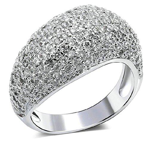 (Custom Ringe)Adisaer Vergoldet Damen Ringe in Gold Eheringe mit Gravur Zirkonia Verlobungsring Diamant Elegant Größe 52 (16.6) Weiß