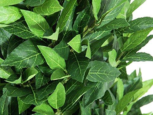 artplants Künstlicher Lorbeerkegelbaum Giuseppe, hochstamm, grün, 120 cm – Lorbeer künstlich/Deko Baum