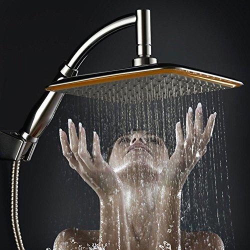 """SunYiMi 9"""" Regenduschkopf Quadratische Duschkopf Kopfbrause mit 360° Drehgelenk, Ionenfilter, Hochdruck Wassereinsparung"""