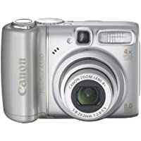"Canon PowerShot A580 Digitalkamera (8 Megapixel, 4-fach opt. Zoom, 2,5"" Display) silber"