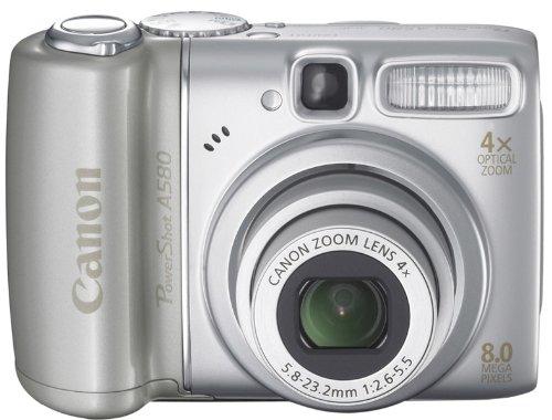 Canon PowerShot A580 Digitalkamera (8 Megapixel, 4-fach opt. Zoom, 2,5