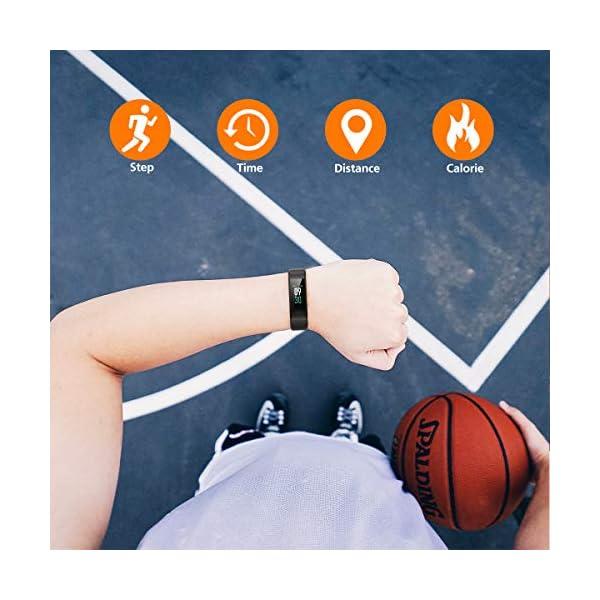 Pulsera Actividad Vigorun Pantalla Color Reloj con Pulsómetro Impermeable IP68 Podómetro Pulsera Deportiva Reloj para… 7
