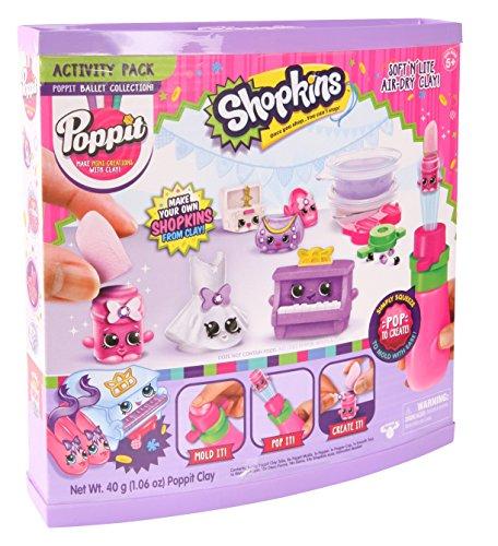 Poppit - Shopkins - Kit Créatif de Mini Personnages en Argile