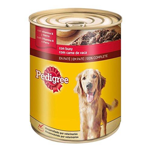 Pedigree - Comida húmeda para Perro con Buey en Lata - 800 g