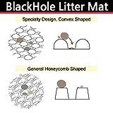 Schwarzes Loch Katzentoilette-Vorleger Doppelstruktur Vorlegematte für Katzentoiletten 57cm x 52cm Cat Litter Mat - 4