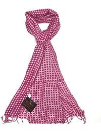 Lovarzi - Bufanda para hombres y mujeres - bufandas unisex excelente calidad - decorado con cuadros y puntos