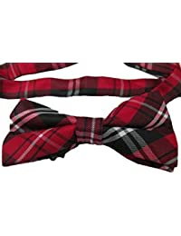Red tartan or green tartan unisex mens ladies novelty fancy dress dickie bow tie for weddings, fashion, free UK P&P by Fat-catz-copy-catz