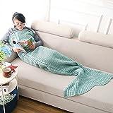 xuanlan Handmade Coda da sirena coperta per bambini ragazzi adulti, Green, Adulti