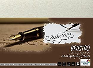 Brustro Calligraphy Papers 175 GSM A4 (Pack of 24 Sheets)