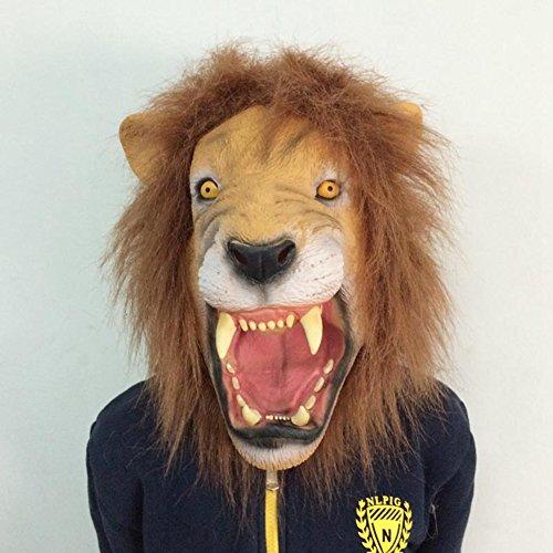 ustige Maske, super grässlicher König der Löwen-Maske Latex Tierkostüm Spielzeug (Beängstigend Vintage Halloween-masken)