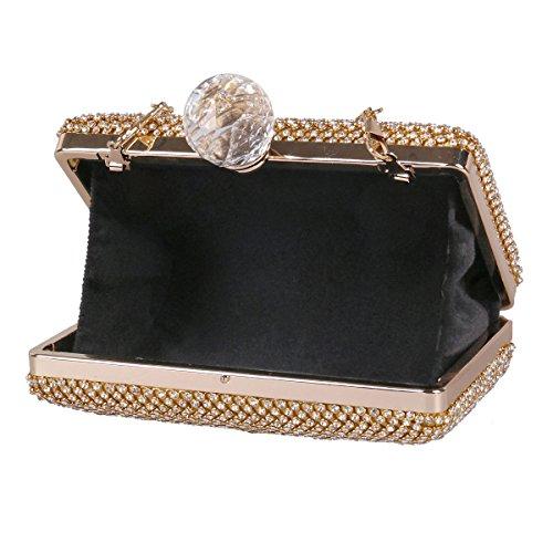Damara® Da Donna Con Strass Medio Elegante Da Party Con Grande Diamante Artificiale Nero