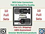 Solar Connectors for Photovoltaic Solar Panels with Mc4 Solar Connector in 10 Pack. by TUV Rated Greener World Store Brand