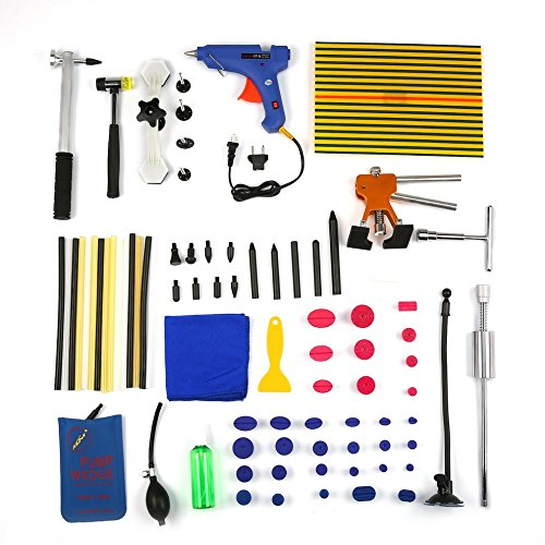Momorain Voll Paintless Dent Reparatur Puller Lifter PDR Werkzeuge Line Board Hagel Entfernung Kit (Farbe: Multicolor) (Kühlschrank-panel-kits)