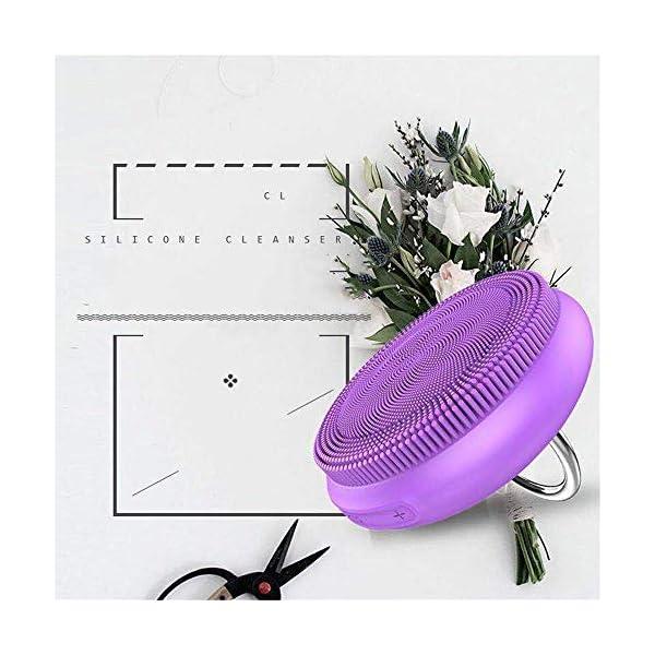 Cepillo de limpieza eléctrico Limpiador facial de silicona vibrante Carga de 5 poros instrumento de limpieza eléctrico…
