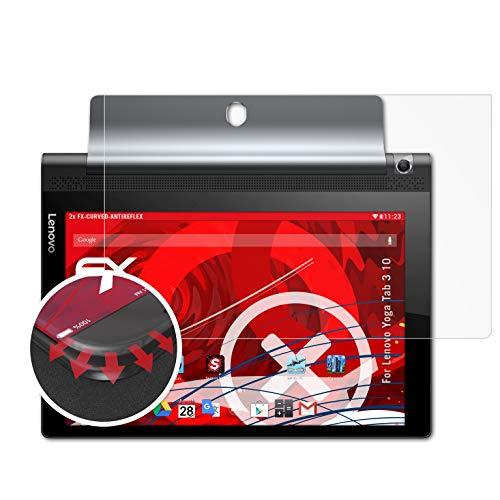 atFolix Schutzfolie passend für Lenovo Yoga Tab 3 10 Folie, entspiegelnde & Flexible FX Bildschirmschutzfolie (2X)