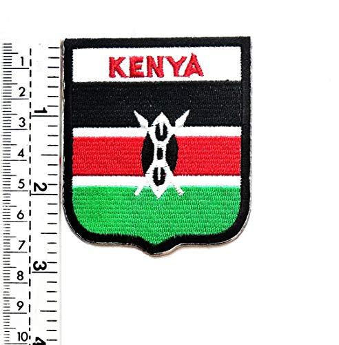 Aufnäher Kenia Nationalflagge Kenia Flaggen-Symbol Bestickt Patch Weste Jacke Biker Motorrad Rider Biker Tattoo Jacke T-Shirt Aufnäher Aufbügler Aufbügler - Kenia Flagge T-shirt