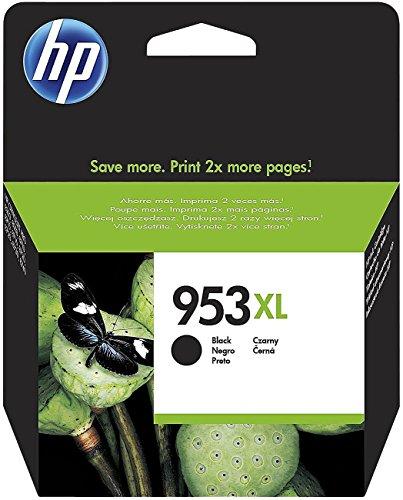 HP 953XL  - Cartucho de tinta para impresoras (alta capacidad, compatible con OfficeJet Pro 8210/8218/8710 AiO/8715 AiO), negro