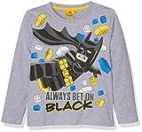 LEGO Batman Jungen T-Shirt 161389, Gris (Greymelange/Dandelion 13-0758TCX), (Hersteller Größe: 8 Jahres)